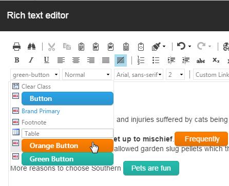 Rich Text Editor Drop-down Classes in Sitecore 8 – CXM
